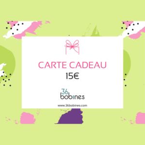 15 euros Carte Cadeau Boutique Patrons