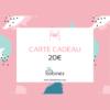 20 euros Carte Cadeau Boutique Tissu
