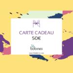 50 euros Carte Cadeau E-commerce Tissu Bio