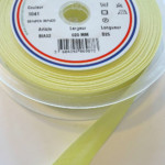 Biais Polycoton Jaune Pastel 20mm