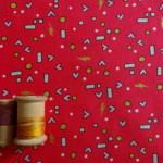 coton rouge michael miller shape Tissu