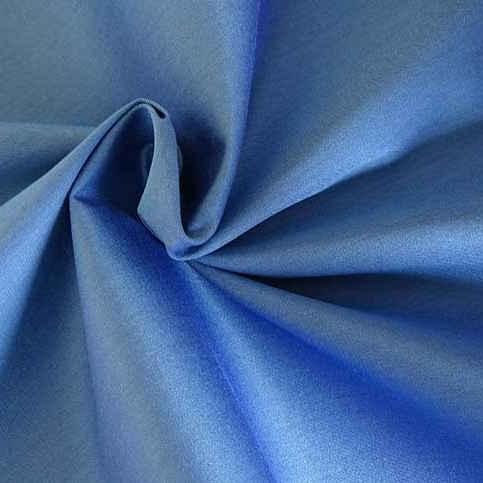 Coton satin bleu outremer