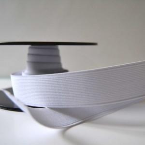 élastique blanc plat 30mm