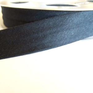biais jersey coton Noir