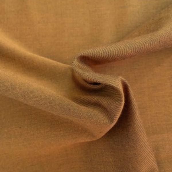 Chambray Darkbiscotte Coton Bio Gots Tissu