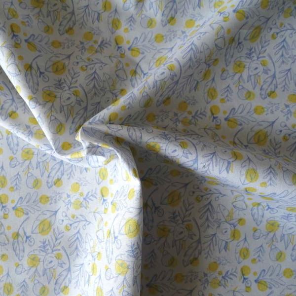 coton popeline fleurs