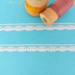 dentelle blanche ruban