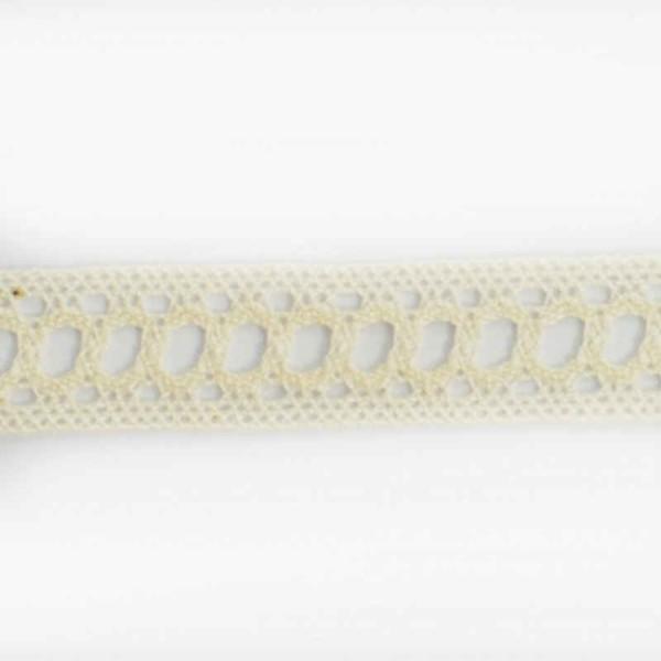 ruban dentelle coton écru échelle