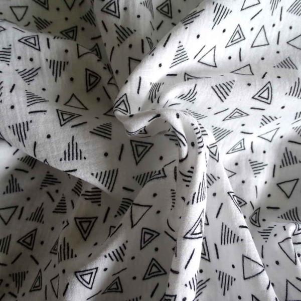 double gaze triangle blanc noir