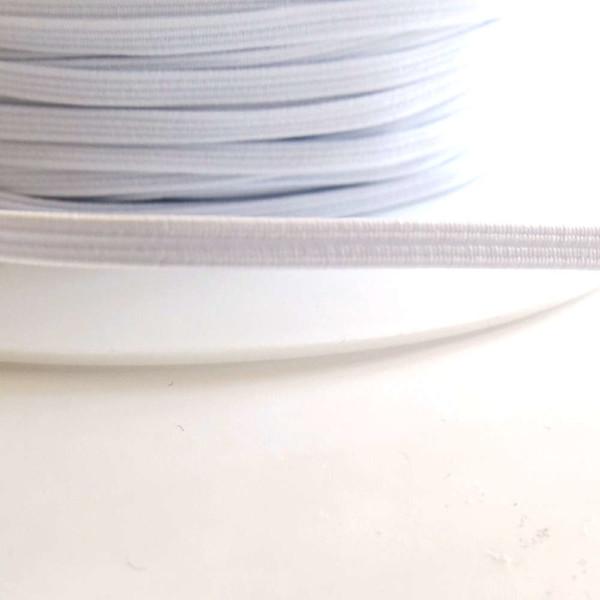 elastique 6mm blanc