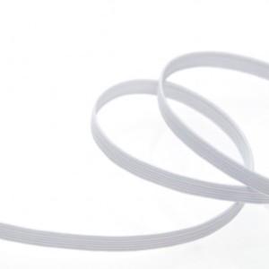 elastique blanc plat 6 mm