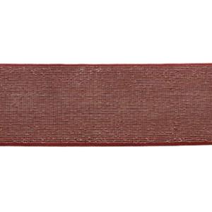 Elastique Brique Argenté Lurex 40mm