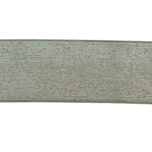 Elastique Celadon Argenté Lurex 40mm