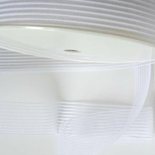 Elastique Fronceur Blanc 25 mm