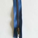 Fermeture Bleu Laiton Zip Non Séparable