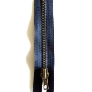 Fermeture Bleu Marine Laiton Zip