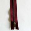 Fermeture Rouge Bordeaux Laiton Zip