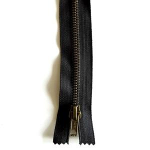 Fermeture Noir Laiton Zip