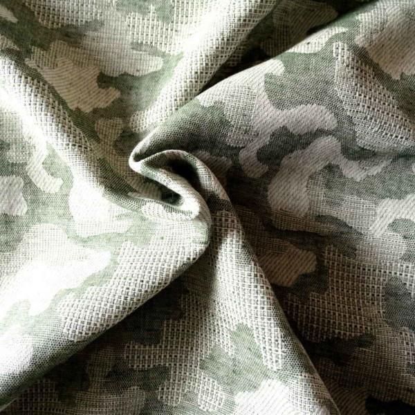 jacquard camouflage coton tissu vert