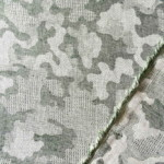jacquard camouflage coton tissu vert Couture