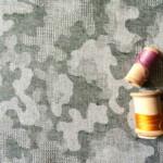 jacquard camouflage coton tissu vert kaki Couture