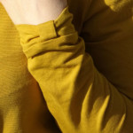Jersey Coton Bio Jaune Moutarde