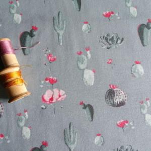 jersey cactus coton gris