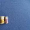Jersey Denim Bleu Coton Bio Gots Tissu