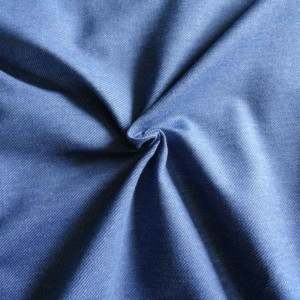 Jersey Denim Bleu Coton Bio Gots Tissu Maille