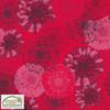 Jersey Tissu Rouge Fleurs Bleues Tournsesol Oeko Tex