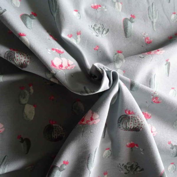 jersey cactus coton gris Tissu