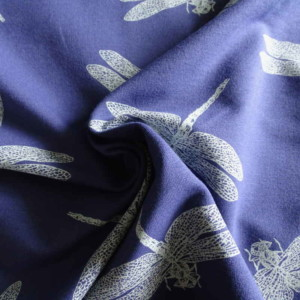 french terry sweat libellules Molleton Tissu Bouclettes Enfant