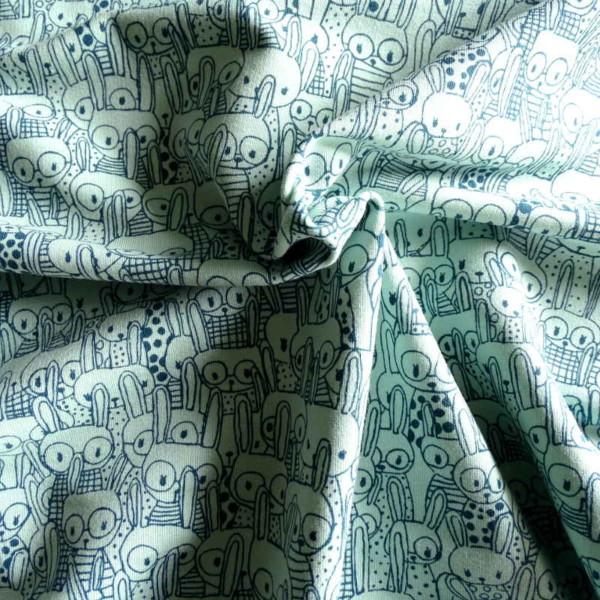 Molleton Lapin Vert Sweat Gratté Tissu