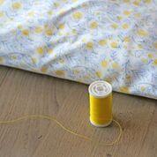 coton popeline fleurs Tissu