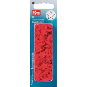 Pressions Prym Etoiles Color Snaps Rouges