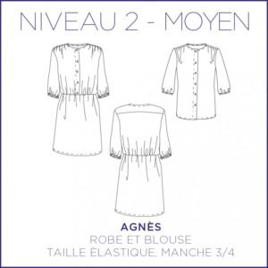 Agnes Robe Blouse Patron Coralie Bijasson
