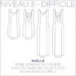 axelle coralie bijasson robe Longue Patron Femme Couture Pochette