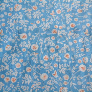 coton fleuri bleu ciel
