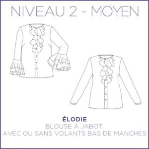 Elodie Blouse Patron Coralie Bijasson Couture Femme