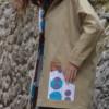 gabardine camel manteau