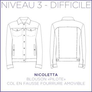 Nicoletta Blouson Patron Coralie Bijasson Veste Femme Couture