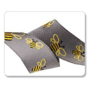 ruban abeille fond gris 23mm tendance