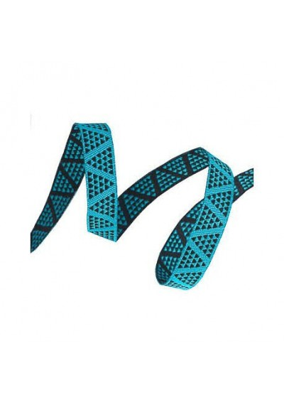 ruban mini pyramides turquoise 10mm tendance