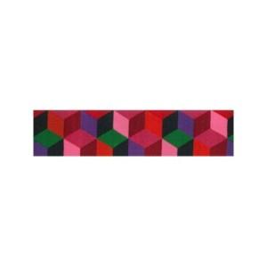 ruban kaffe fassett cubes rouge tendance