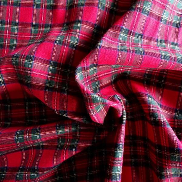 flanelle coton écossais rouge tissu
