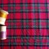 flanelle coton écossais rouge tissu couture