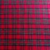 flanelle coton écossais rouge tissu couture carreaux
