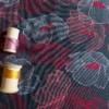 jersey gris fines fleurs coton couture