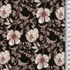 viscose petites fleurs blanches fond noir