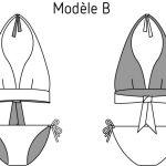 schéma technique maillot hina bikini